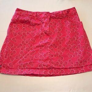 Slazenger skirt in pink geometric fabric